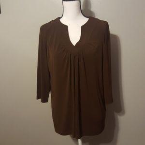 Susan Graver medium brown blouse